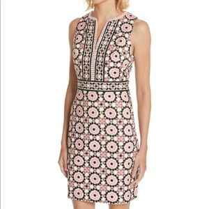 Kate spade floral mosaic jacquard dress